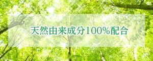 天然由来成分100%配合